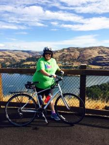 Ready to ride at the Rowena Crest Overlook